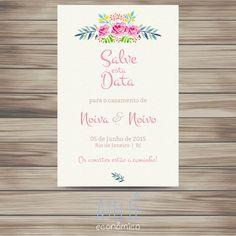 Save the Date - Aquarela Digital