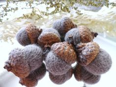7 Gray CASHMERE ACORNS upcycled Retired by CustomWarmWoolies, $11.00