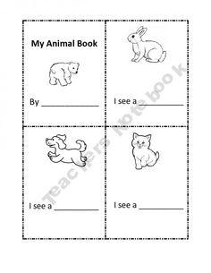 My Animal Book printable