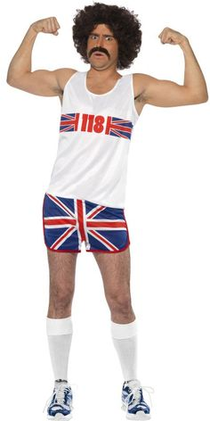 Marathon Man British Flag Tank & Shorts Costume Adult for sale online Funny Costumes, Adult Costumes, Marathon Man, Slouchy Tee, Cat Sweatshirt, British Style, Fancy Dress, Shorts, Flag