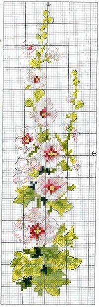 haft krzyżykowy / kwiat // cross stitch chart