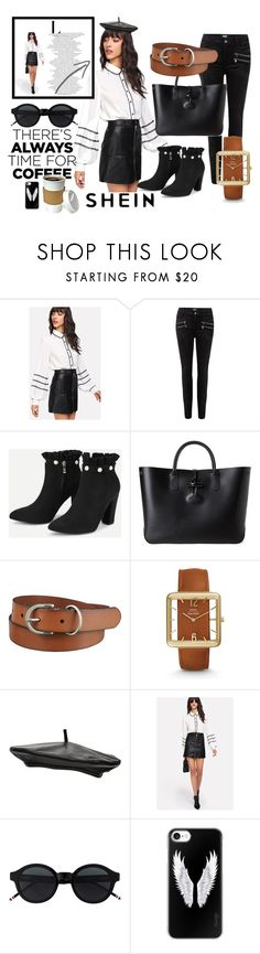 """There's Always Time For Coffee!"" by aminazerina ❤ liked on Polyvore featuring Paige Denim, Longchamp, Uniqlo, FOSSIL, Witchery and Casetify"