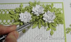 how to make a flower spray - If you haven't already looked....check out Kittie's web site.  Her cards are amazing !!