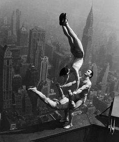 this is how they did stunts in the old days and if you fell well you were history