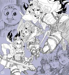 Slayer Meme, Demon Slayer, Anime Crossover, Yugioh Seasons, Cute Disney Drawings, Mythical Creatures Art, Handsome Anime Guys, Art Memes, Anime Demon