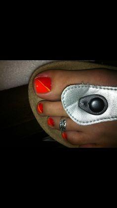 Orange goodness! #nailartbykrystle #imagineesthetique #pointeclaire #montreal #pedicure #manicure #nailart #prettytoes #opi