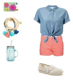 Day at the park by balletlover11 on Polyvore featuring polyvore, Miss Selfridge, Splendid, TOMS, ALADDIN, fashion, style and clothing