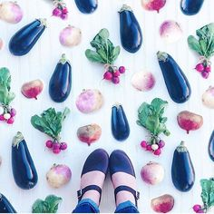 @kennaandlulu do the best #fromwhereistand photos highwood aubergine clogs ft real aubergines🍆🍆🍆#lovemylottas #lottafromstockholm #feetswitheats