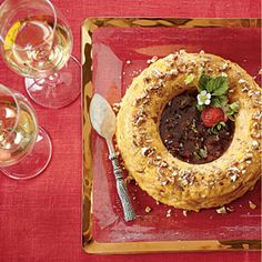 Cheese Ring with Strawberry Preserves | MyRecipes.com