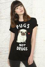 Gemma Correll - T-shirt « Pugs Not Drugs »