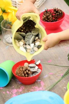 Stone and Rock Crafts for Kids - Happy Hooligans Tea Party Activities, Nature Activities, Summer Activities, Preschool Activities, Outdoor Activities, Outdoor Learning, Fun Learning, Outdoor Education, Game Night Food