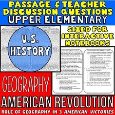 Geography in the American Revolution: How it Benefited Americans in 3 Battles: A Close Reading Passage for UPPER ELEMENTARY - This single passage pack is about how the Continental Army benefited from physical geography during 3 battles; Lexington and Concord, Saratoga, and Yorktown.