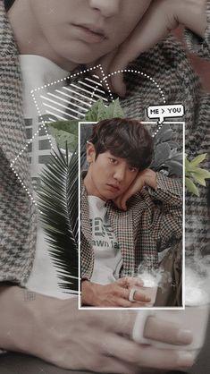 Park Chanyeol Exo, Baekhyun, Future Wallpaper, Orange Wallpaper, Exo Fan Art, Exo Lockscreen, Korean People, Bts And Exo, Exo Members