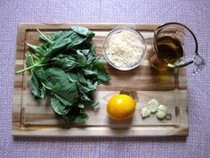 pesto without pine nuts...because sometimes you just don't have pine nuts.