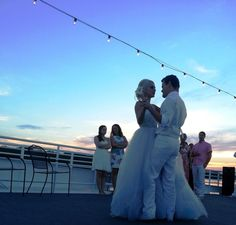 #WeddingWednesday -  remembering this romantic first dance on the sky deck after a #sunset #wedding. #sandestin