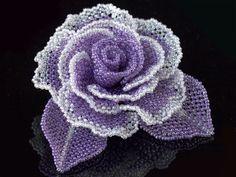 Purple 2 Tone Rose Beads Corsage