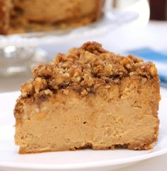 Pumpkin Walnut Cheesecake Recipe it's a great dessert for Thanksgiving and you can't eat just one slice! This is a pretty easy recipe considering it looks..