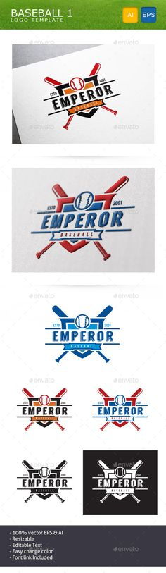 Baseball Team - Logo Design Template Vector #logotype Download it here: http://graphicriver.net/item/baseball-team/10999311?s_rank=670?ref=nexion