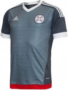 Camisa reserva do Paraguai para a Copa América 2015 - http://colecaodecamisas.com/camisa-reserva-paraguai-copa-america-2015/ #colecaodecamisas #Adidas, #Copaamerica2015