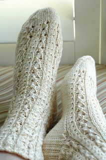 """This sock is part of the Knitting Daily ebook """"Knitting Socks with Knitting Daily: 7 Free Sock Knitting Patterns."""""""