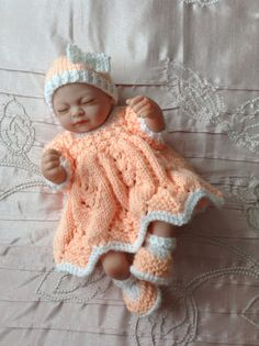 Hand knitted dolls clothes to fit 10 by HandKnittedbyme on Etsy