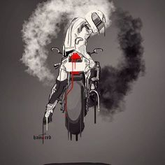 70 Ideas rider motorcycle art for 2019 Scooter Motorcycle, Motorcycle Outfit, Motorcycle Helmets, Motorcycle Humor, Biker Tattoos, Motorcycle Tattoos, Motos Ktm, E Motor, Bike Photoshoot