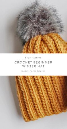 Free Pattern - Crochet Beginner Winter Hat