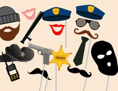 photo booth prop printable, wedding photo booth props, engagement photo booth props, baby shower photo booth, party photo booth, bridal shower props #props #photobooth #babyshower #bidalshower #birthdayparty #police #cop #robber