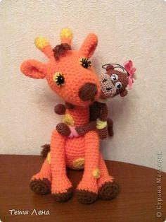 Игрушка Вязание крючком Очаровательный жираф Пряжа фото 2