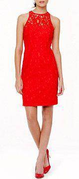 Pamela Dress in Leavers Lace - Poppy