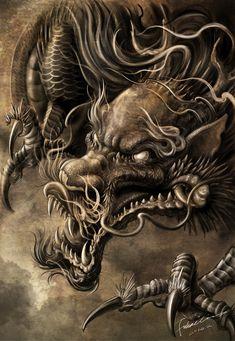 Dragón que da miedo
