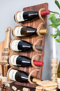 Portabottiglie vino fai da te 01