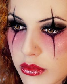 Pretty and elegant jester makeup