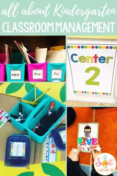 Teaching strategies, tips, and ideas for implementing an effective and positive classroom management system in Kindergarten. Learn how to set up center rotations, behavior management techniques, why it's important to have an organization system, how to teach them during back to school time, and more. Many of these tools will work for any Elementary or Primary classroom! #classroommanagement #kindergarten #backtoschool