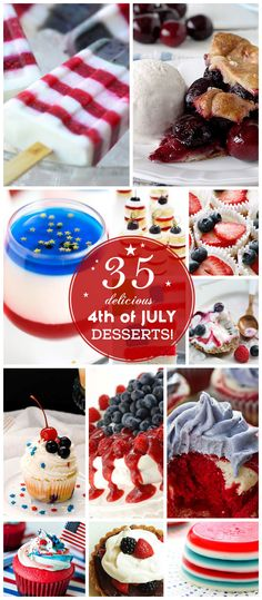 Click Pic for 35 Easy 4th of July Dessert Recipes for a Crowd | Easy 4th of July Desserts for Kids to Make