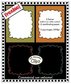 Freebie! http://www.teacherspayteachers.com/Product/Freebie-2-Striped-Doodle-Frames-with-Coordinating-Papers-903332