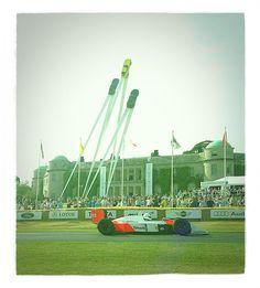 Senna's #McLaren MP4-4 Climbing the Hill at Goodwood Festival of Speed.