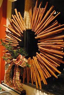 DIY Cinnamon Stick Wreath, I am definitely making these thus year! Christmas Love, Rustic Christmas, All Things Christmas, Winter Christmas, Christmas Wreaths, Christmas Decorations, Christmas Ideas, Christmas Recipes, Stick Wreath