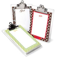 Choose from more than 50 designs to personalize these clipboard-mounted note sheets, then store by the kitchen phone. Whitney English, Note Sheet, Brainstorm, Oprah, Gift Ideas, Wall, Diy, Gifts, Design