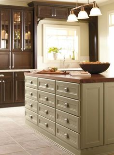 legallyblond: Art/Wall Decor - Martha Stewart Cabinets from Home Depot - painted cabinets, green, espresso