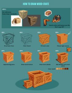 Game Design Tutorial Wood Crate on Behance