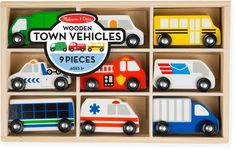 Melissa & Doug Town Vehicles Set