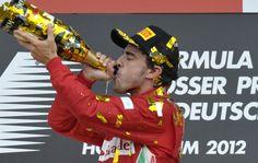 Fórmula 1 | El español Alonso se quedó con el Gran Premio de Alemania  El asturiano logró la victoria y se aleja en la clasificación general con 34 puntos de ventaja. (Foto: Cadena3) | Leé la nota completa en http://www.lapampadiaxdia.com.ar/2012/07/formula-1-el-espanol-alonso-se-quedo.html#