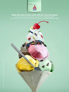 Ice Cream ad for Sherwin Williams— McKinney Agency  Check out my new employers!