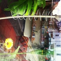 a view through the window of Samuel David Hairdressing in Bristol