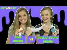 Real Brand vs Dollar Store Brand ~ Slime Challenge ~ Jacy and Kacy Karina Garcia, Types Of Slime, Slime Kit, Unique Image, Dollar Stores, Challenges, Making Slime, How To Make, Fun