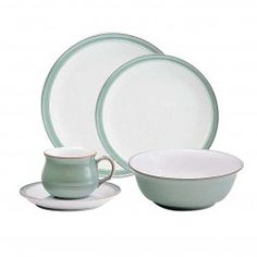 Denby Regency Green 40 pce 8 place dinner set - Tableking