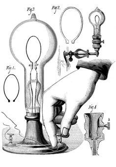 Antique Image - Light Fixture Diagram - Hand - The Graphics Fairy