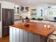 Eclectic Kitchen Design, Pictures, Remodel, Decor and Ideas - page 14 Eclectic Kitchen, Kitchen Decor, Kitchen Ideas, Kitchen Tips, Corner Stove, Corner Sink, Corner Shelf, Kitchen Corner, New England Kitchen