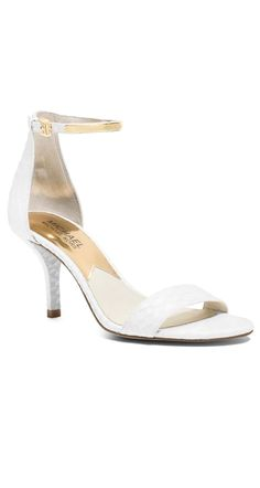 A cute and comfortable pair of MICHAEL Michael Kors heels that you can wear long after your big day!